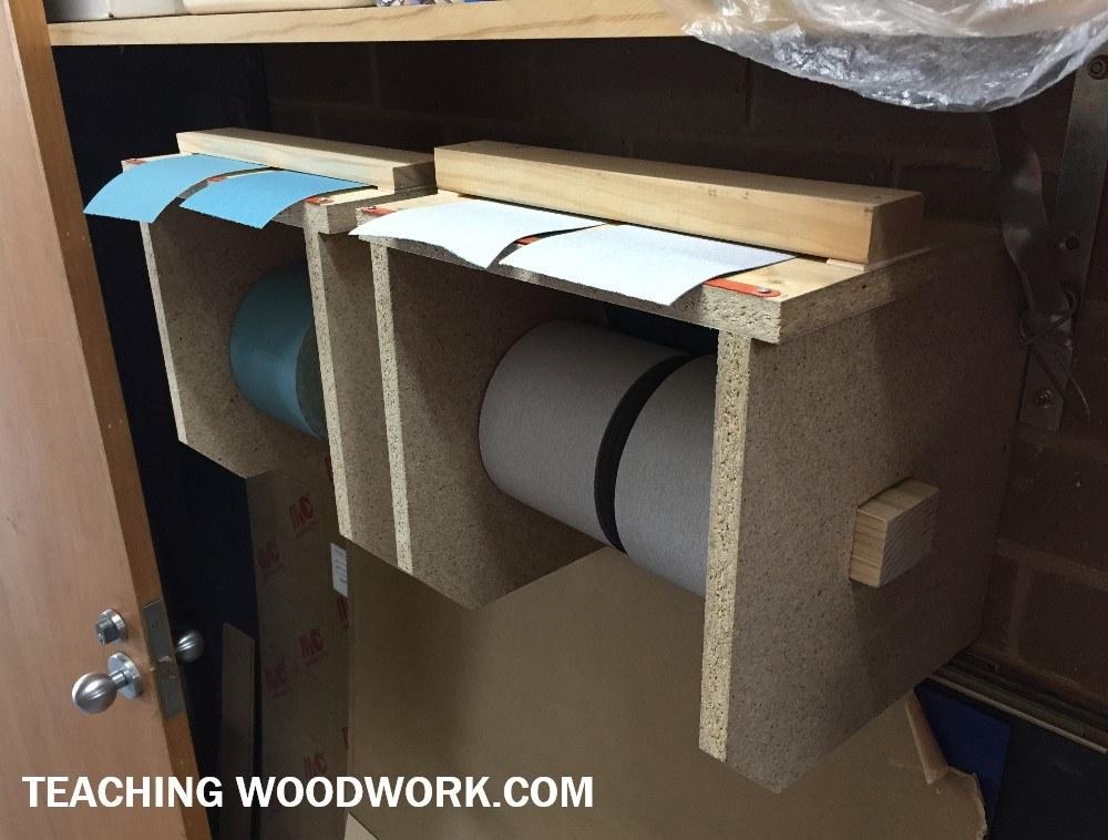 Class Sandpaper Storage