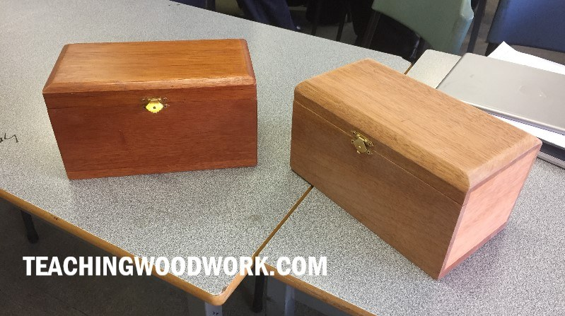 Jewellery Boxes made by students