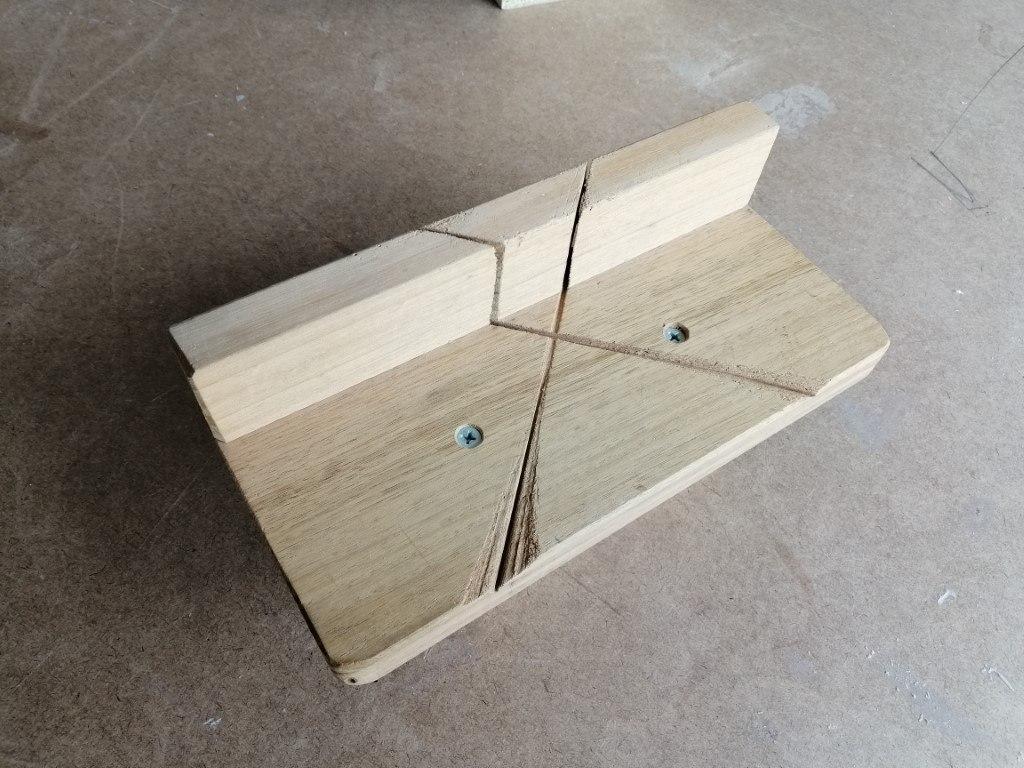 handmade mitre box