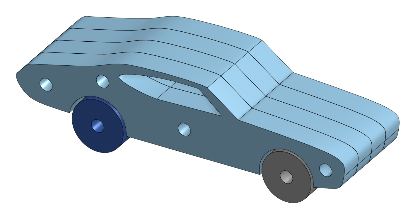 A car that a child can make with just a mallet