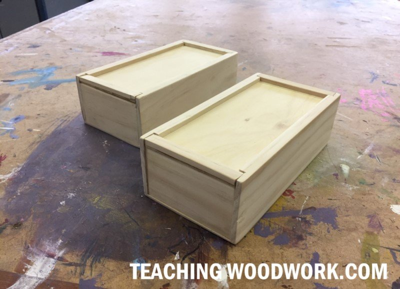 easy wood projects for kids - a pencil box