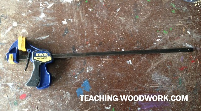 Quick Grips and/or clamps are always required for a woodworkier