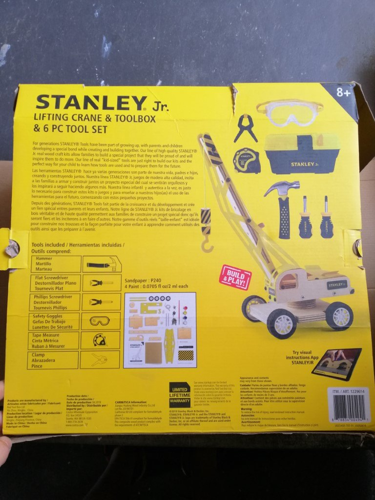 Stanley Jr Wood Kit with tools and toolbox in box 2