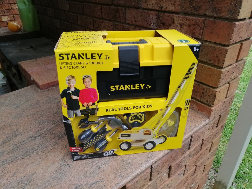 Stanley Jr Wood Kit with tools and toolbox in box
